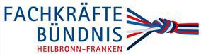 Das Bild zeigt das Logo des Fachkräftebündnis Heilbronn-Franken, bestehend aus einem Schriftzug und aus mehreren Seilen, die sich zu einem Knoten formen.