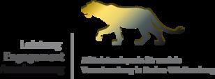 Das Bild zeigt das Logo des Mittelstandspreises für soziale Verantwortung Baden-Württemberg mit den Begriffen Leistung, Engagement, Anerkennung und dem Abbild eines Löwen.
