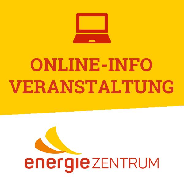 Newsbild Online-Info-Veranstaltung mit dem Logo des energieZENTRUMS